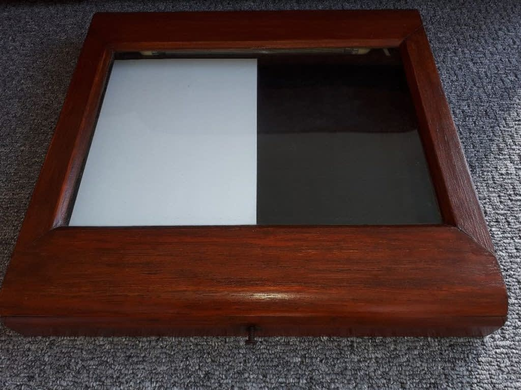 Wooden Illuminated Menu Case With Glass Front – West Sussex