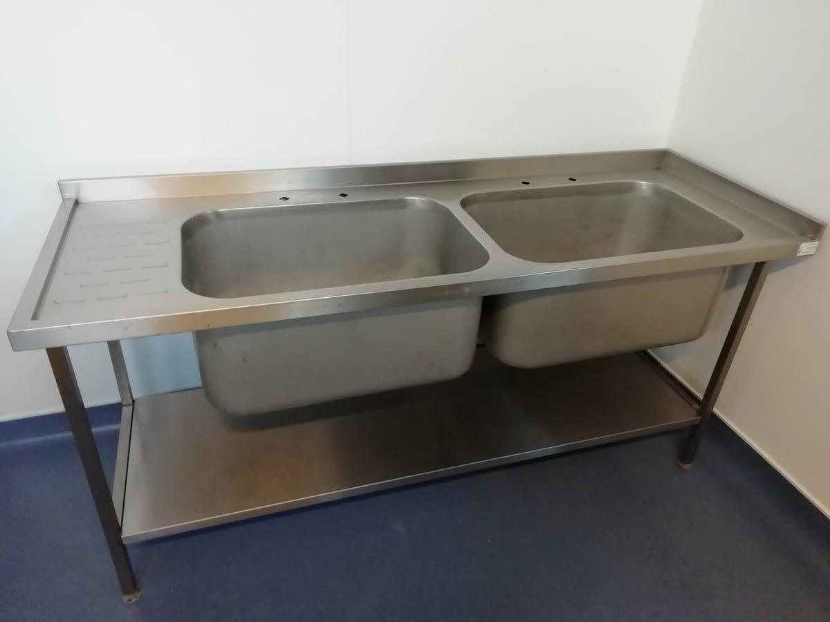 Double Bowl Pot Wash Sink